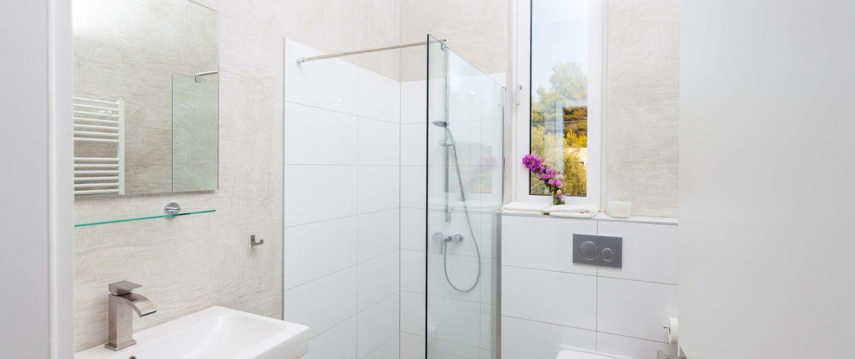 Bathroom with deluxe equipment