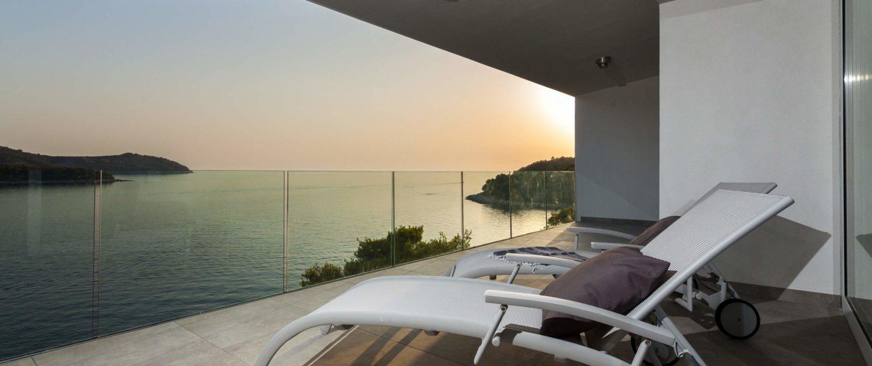 Relaxing on the indoor terrace