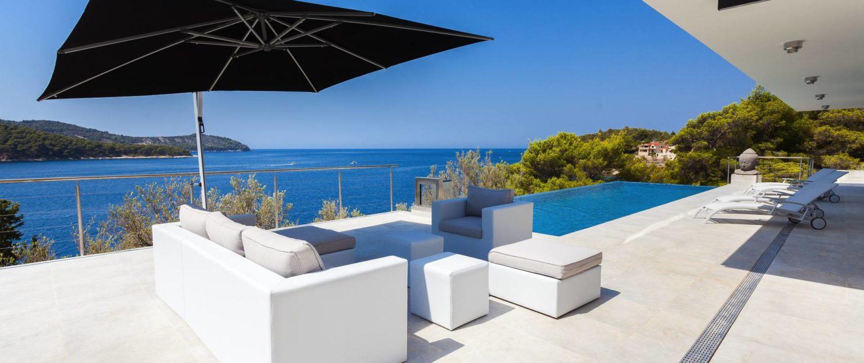 Sun sail set @ The STYLE AND SEA Luxury Seaside Villa